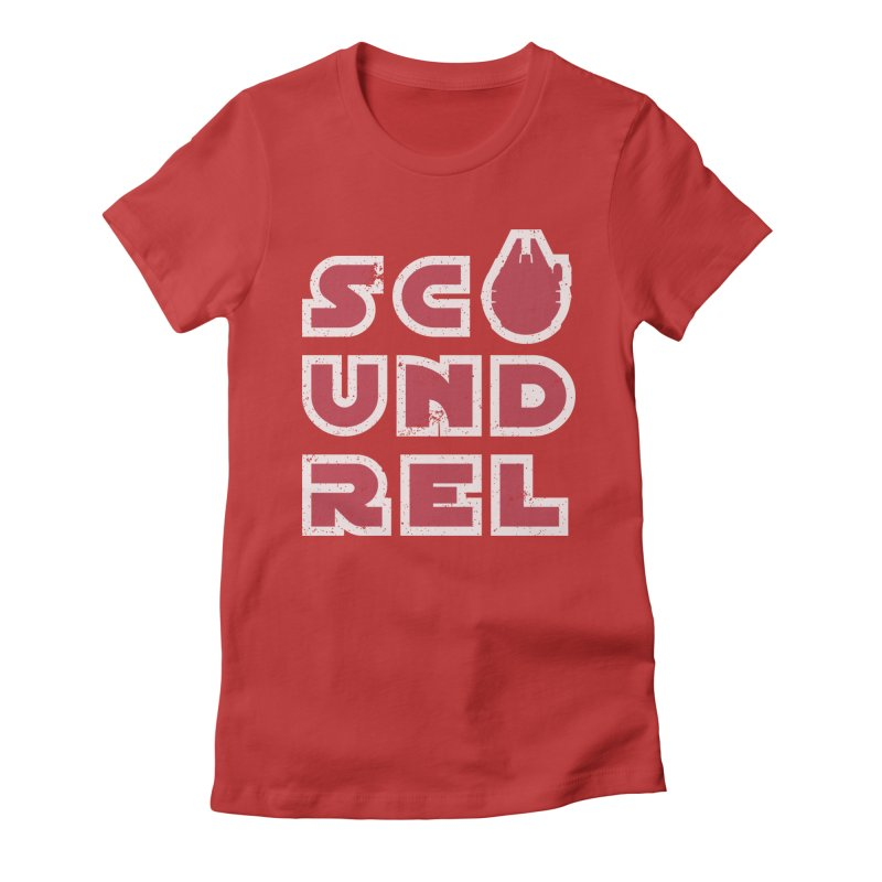 Scoundrel - Red Flavor Women's Fitted T-Shirt by Gamma Bomb - A Celebration of Imagination