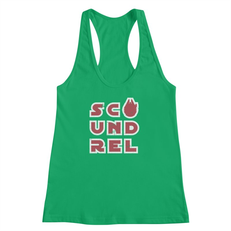Scoundrel - Red Flavor Women's Racerback Tank by Gamma Bomb - A Celebration of Imagination