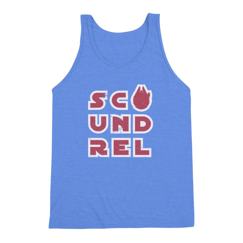 Scoundrel - Red Flavor Men's Triblend Tank by Gamma Bomb - A Celebration of Imagination