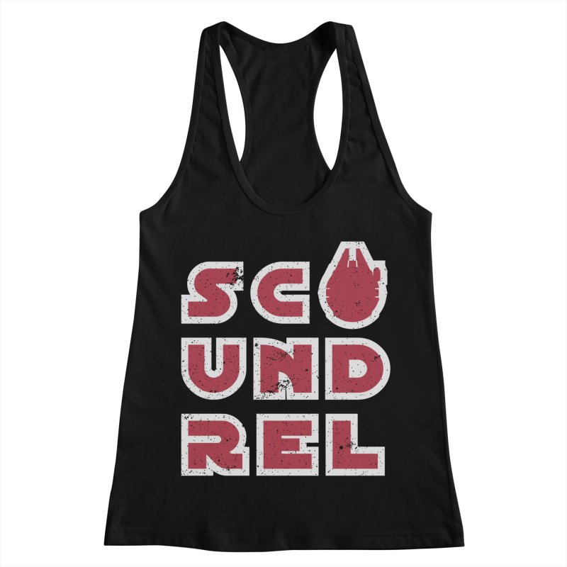 Scoundrel - Red Flavor Women's Racerback Tank by Gamma Bomb - Explosively Mutating Your Look