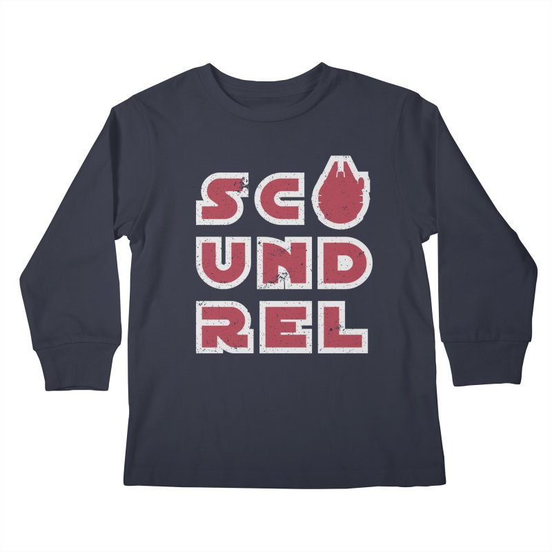 Scoundrel - Red Flavor Kids Longsleeve T-Shirt by Gamma Bomb - A Celebration of Imagination