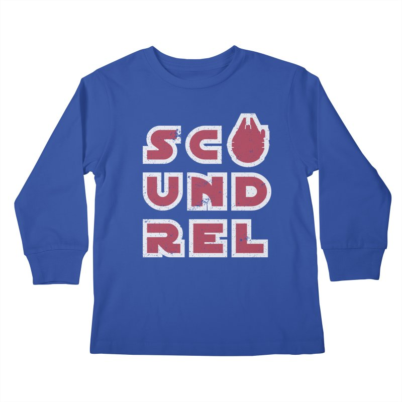 Scoundrel - Red Flavor Kids Longsleeve T-Shirt by Gamma Bomb - Explosively Mutating Your Look