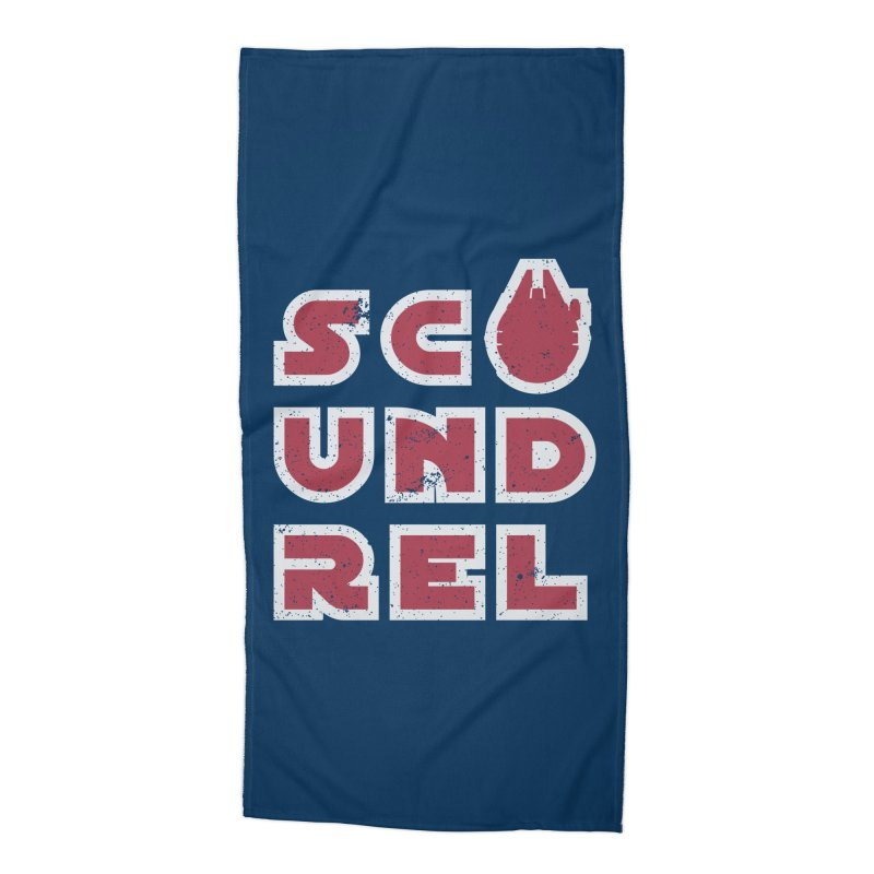 Scoundrel - Red Flavor Accessories Beach Towel by Gamma Bomb - A Celebration of Imagination