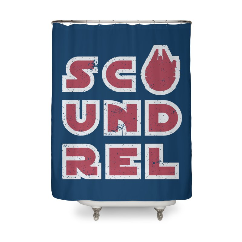 Scoundrel - Red Flavor Home Shower Curtain by Gamma Bomb - A Celebration of Imagination