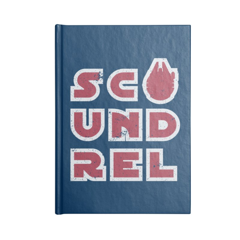 Scoundrel - Red Flavor Accessories Blank Journal Notebook by Gamma Bomb - Explosively Mutating Your Look