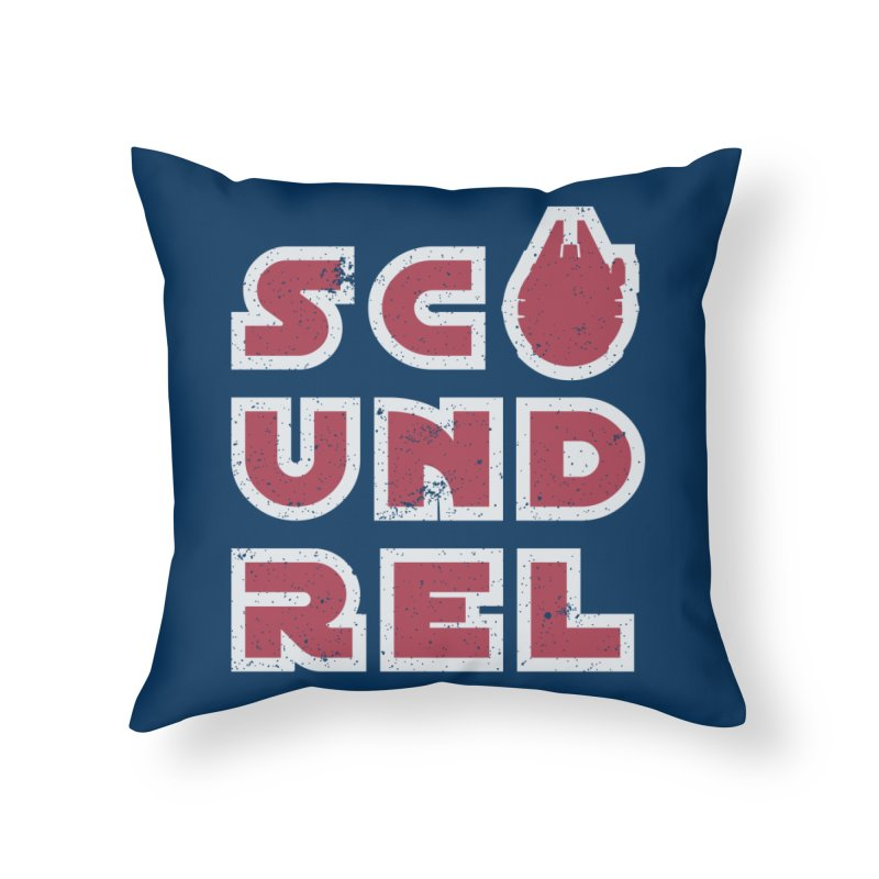 Scoundrel - Red Flavor Home Throw Pillow by Gamma Bomb - A Celebration of Imagination