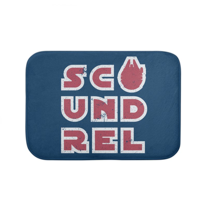 Scoundrel - Red Flavor Home Bath Mat by Gamma Bomb - Explosively Mutating Your Look