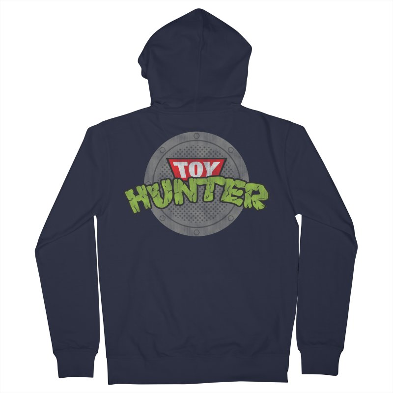 Toy Hunter - Turtle Flavor Men's French Terry Zip-Up Hoody by Gamma Bomb - A Celebration of Imagination