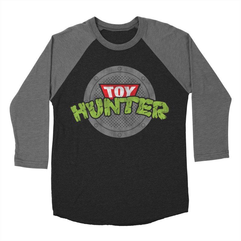 Toy Hunter - Turtle Flavor Men's Baseball Triblend Longsleeve T-Shirt by Gamma Bomb - A Celebration of Imagination