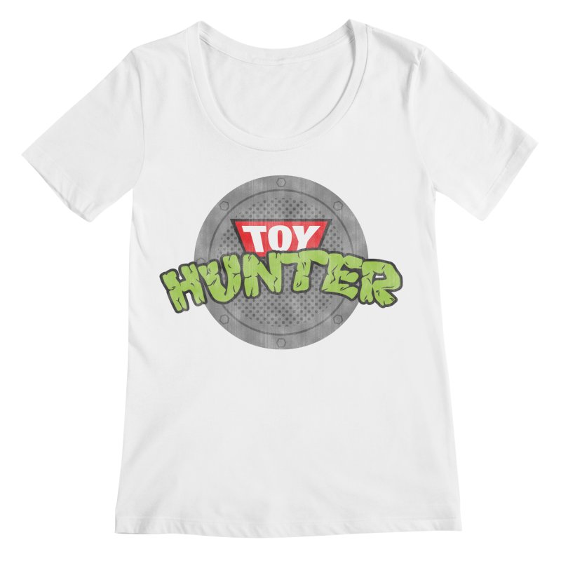 Toy Hunter - Turtle Flavor Women's Regular Scoop Neck by Gamma Bomb - Explosively Mutating Your Look
