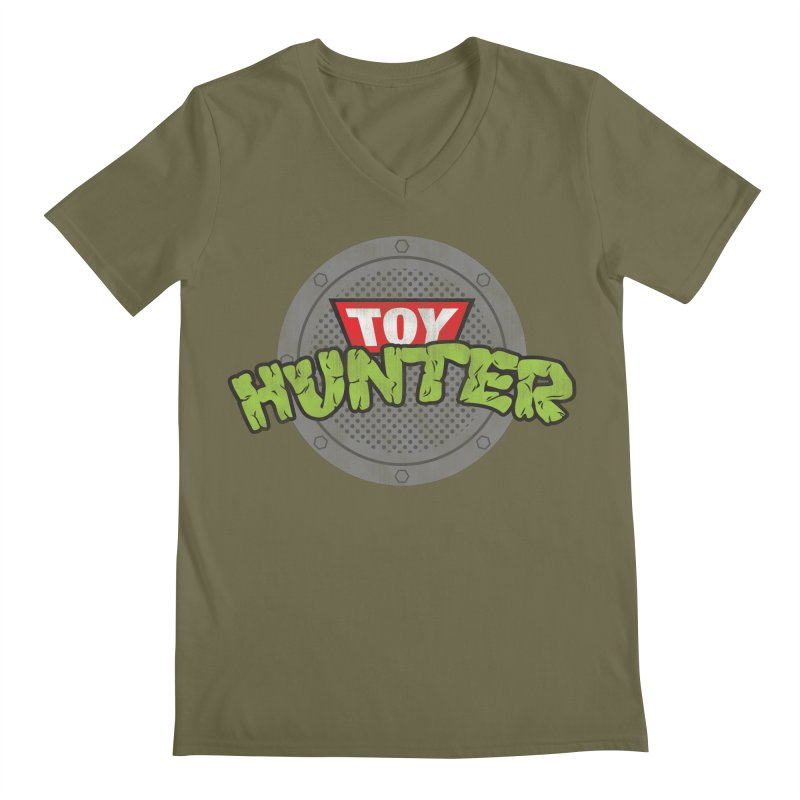 Toy Hunter - Turtle Flavor Men's Regular V-Neck by Gamma Bomb - Explosively Mutating Your Look