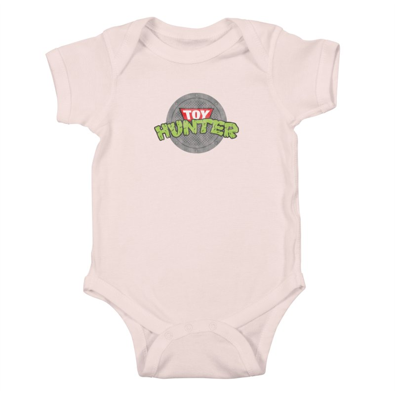 Toy Hunter - Turtle Flavor Kids Baby Bodysuit by Gamma Bomb - A Celebration of Imagination