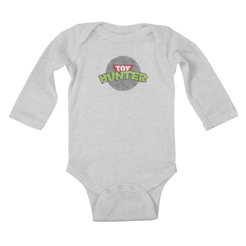 Toy Hunter - Turtle Flavor Kids Baby Longsleeve Bodysuit by Gamma Bomb - A Celebration of Imagination