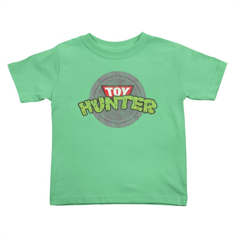 Toy Hunter - Turtle Flavor Kids Toddler T-Shirt by Gamma Bomb - Explosively Mutating Your Look