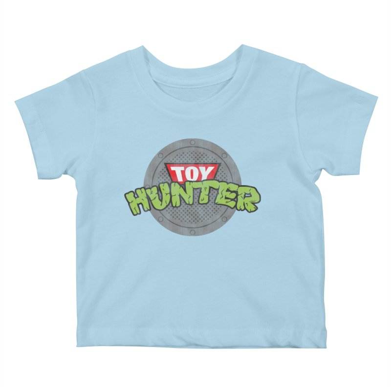 Toy Hunter - Turtle Flavor Kids Baby T-Shirt by Gamma Bomb - A Celebration of Imagination