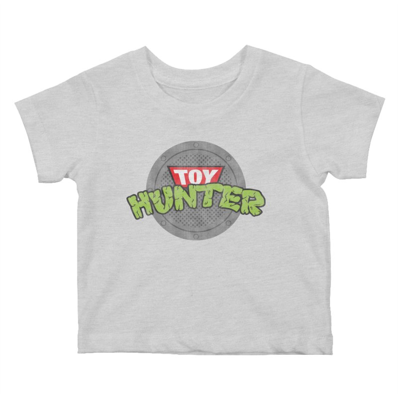 Toy Hunter - Turtle Flavor Kids Baby T-Shirt by Gamma Bomb - Explosively Mutating Your Look