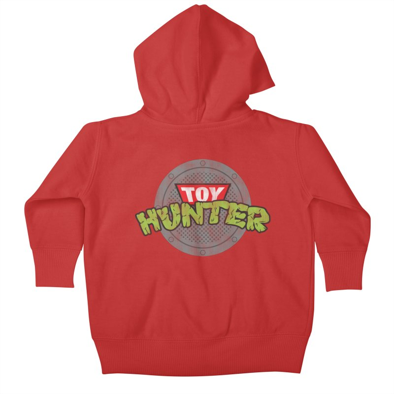 Toy Hunter - Turtle Flavor Kids Baby Zip-Up Hoody by Gamma Bomb - Explosively Mutating Your Look