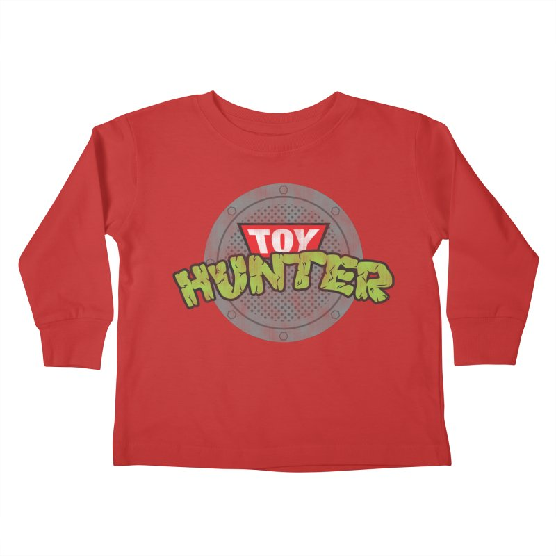 Toy Hunter - Turtle Flavor Kids Toddler Longsleeve T-Shirt by Gamma Bomb - Explosively Mutating Your Look