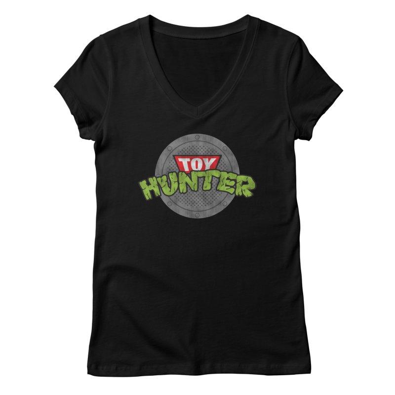 Toy Hunter - Turtle Flavor Women's Regular V-Neck by Gamma Bomb - A Celebration of Imagination