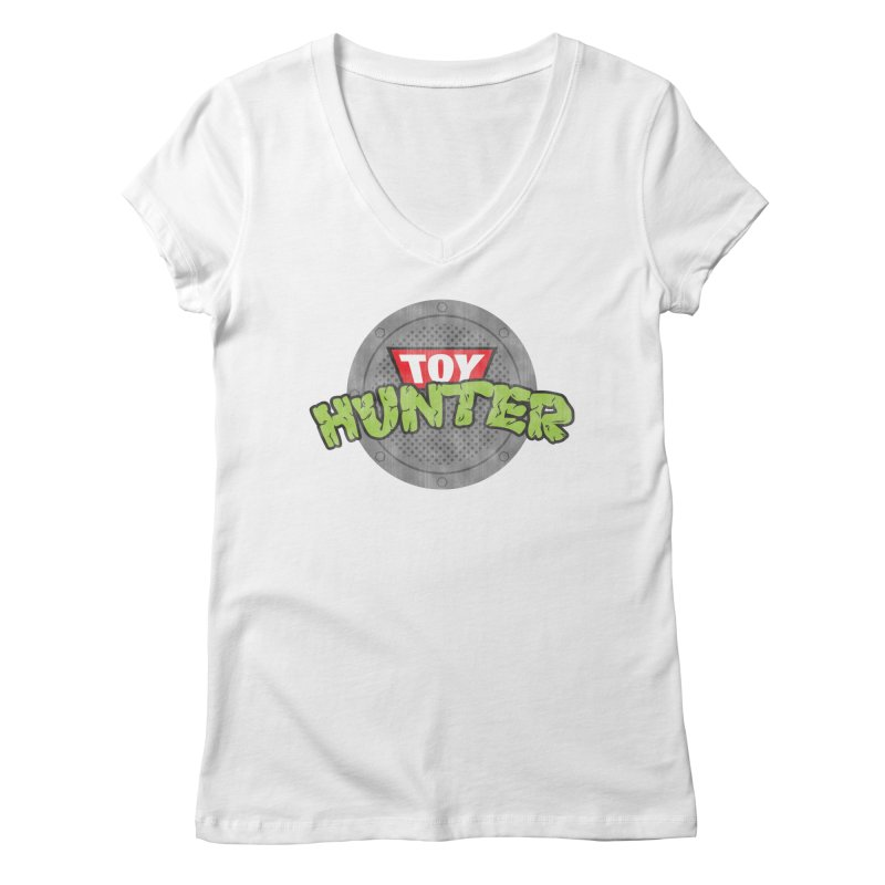 Toy Hunter - Turtle Flavor Women's Regular V-Neck by Gamma Bomb - Explosively Mutating Your Look