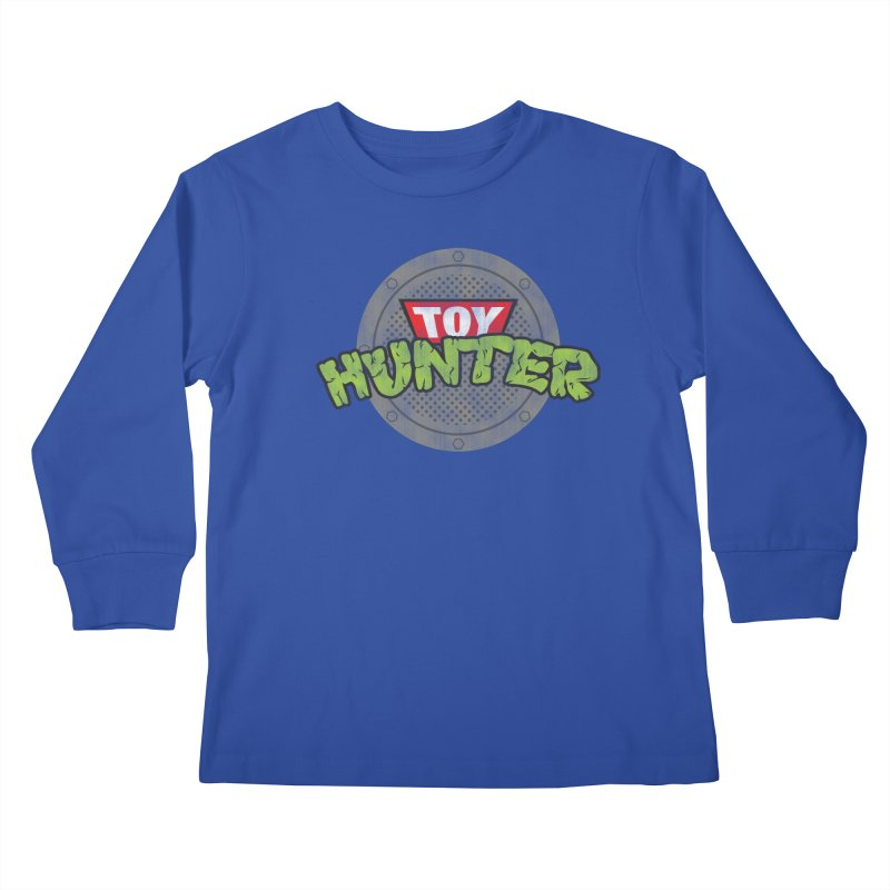 Toy Hunter - Turtle Flavor Kids Longsleeve T-Shirt by Gamma Bomb - Explosively Mutating Your Look