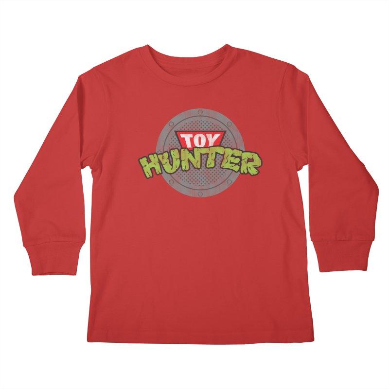 Toy Hunter - Turtle Flavor Kids Longsleeve T-Shirt by Gamma Bomb - A Celebration of Imagination
