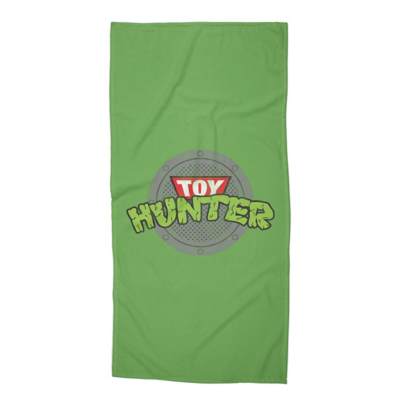 Toy Hunter - Turtle Flavor Accessories Beach Towel by Gamma Bomb - Explosively Mutating Your Look