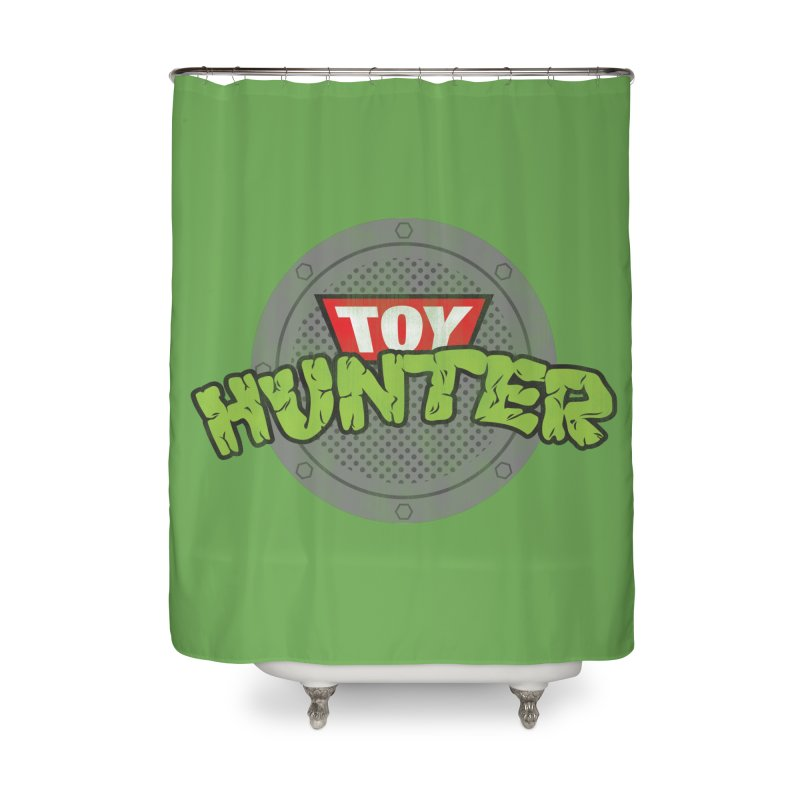 Toy Hunter - Turtle Flavor Home Shower Curtain by Gamma Bomb - A Celebration of Imagination