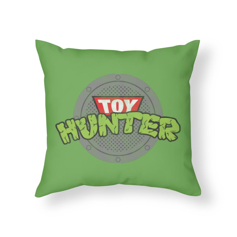 Toy Hunter - Turtle Flavor Home Throw Pillow by Gamma Bomb - Explosively Mutating Your Look