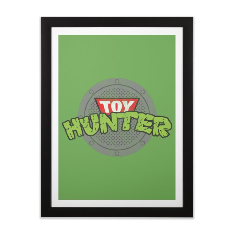 Toy Hunter - Turtle Flavor Home Framed Fine Art Print by Gamma Bomb - Explosively Mutating Your Look