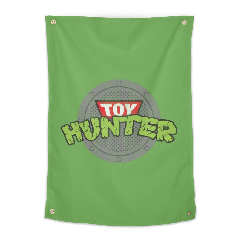 Toy Hunter - Turtle Flavor Home Tapestry by Gamma Bomb - A Celebration of Imagination