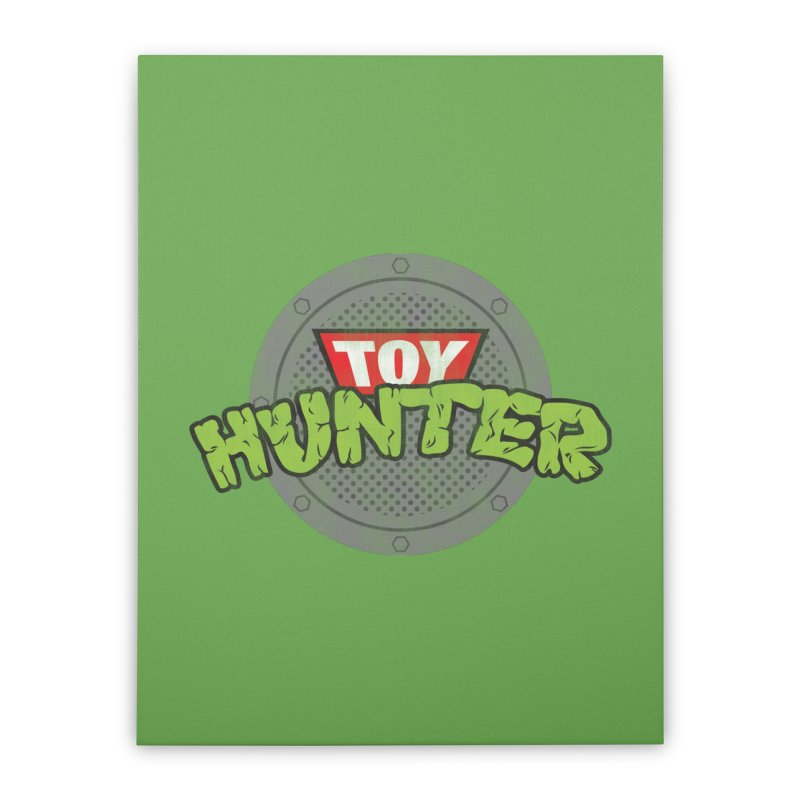 Toy Hunter - Turtle Flavor Home Stretched Canvas by Gamma Bomb - Explosively Mutating Your Look