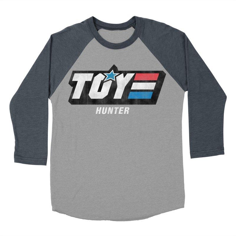 Toy Hunter - Joe Flavor Men's Baseball Triblend Longsleeve T-Shirt by Gamma Bomb - A Celebration of Imagination