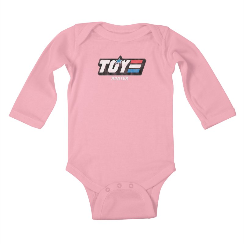 Toy Hunter - Joe Flavor Kids Baby Longsleeve Bodysuit by Gamma Bomb - Explosively Mutating Your Look