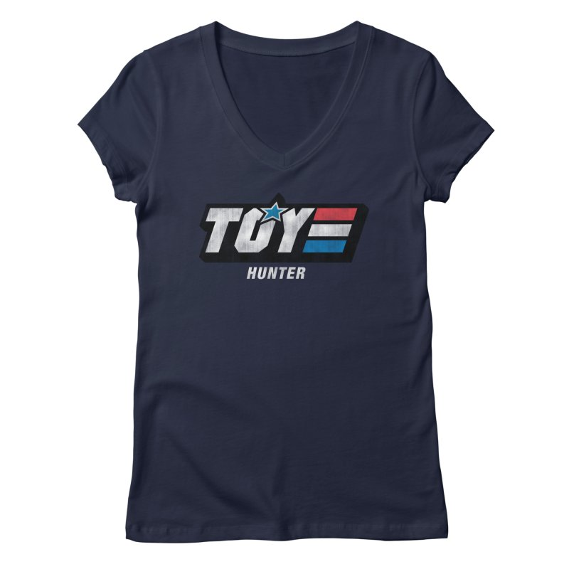 Toy Hunter - Joe Flavor Women's Regular V-Neck by Gamma Bomb - Explosively Mutating Your Look