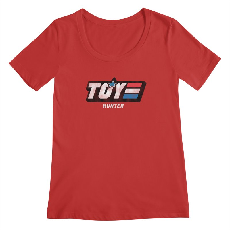 Toy Hunter - Joe Flavor Women's Regular Scoop Neck by Gamma Bomb - Explosively Mutating Your Look