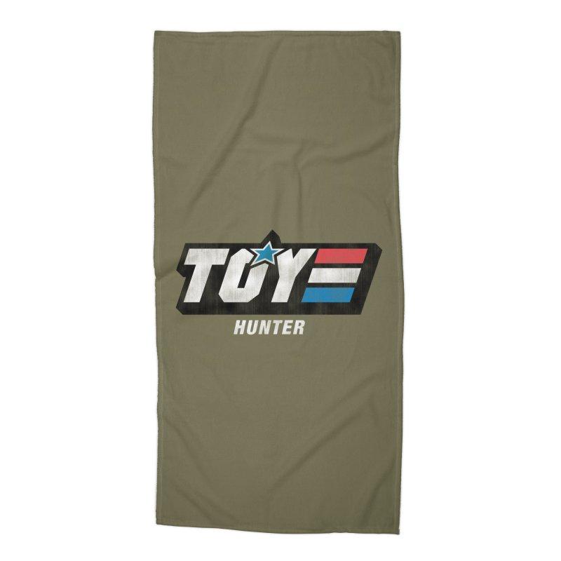 Toy Hunter - Joe Flavor Accessories Beach Towel by Gamma Bomb - A Celebration of Imagination