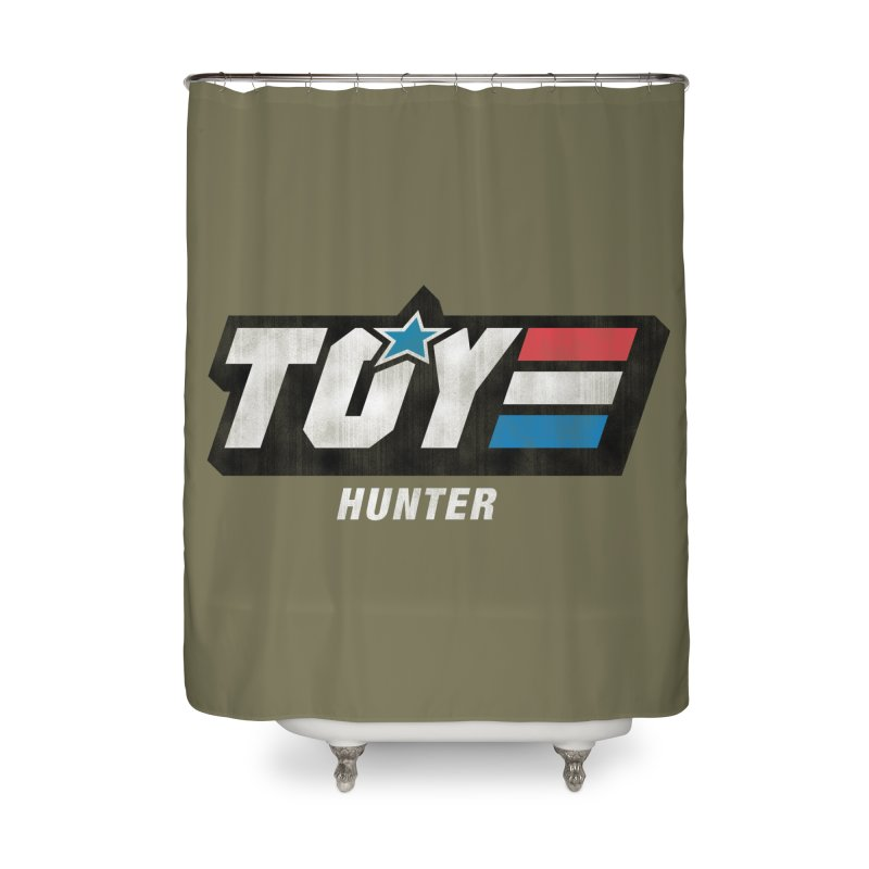 Toy Hunter - Joe Flavor Home Shower Curtain by Gamma Bomb - A Celebration of Imagination