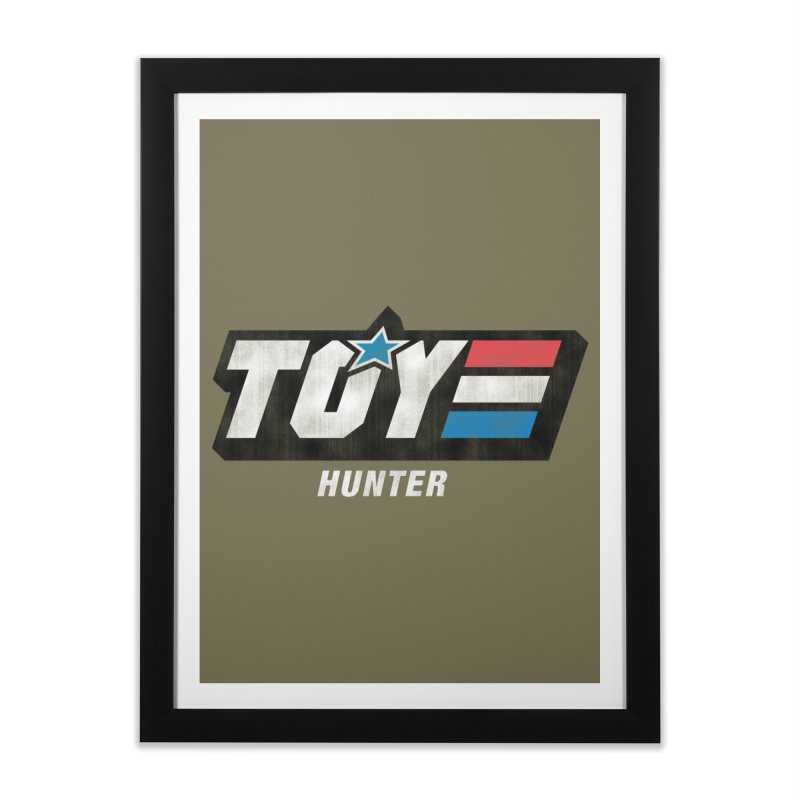 Toy Hunter - Joe Flavor Home Framed Fine Art Print by Gamma Bomb - Explosively Mutating Your Look