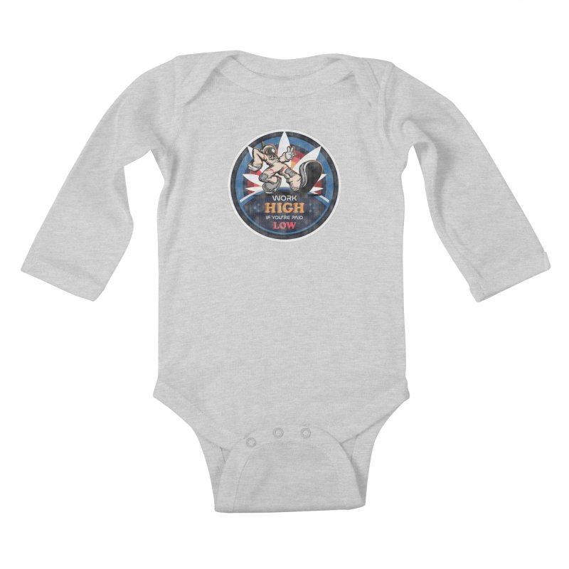 Keep On Grindin' Kids Baby Longsleeve Bodysuit by Gamma Bomb - Explosively Mutating Your Look