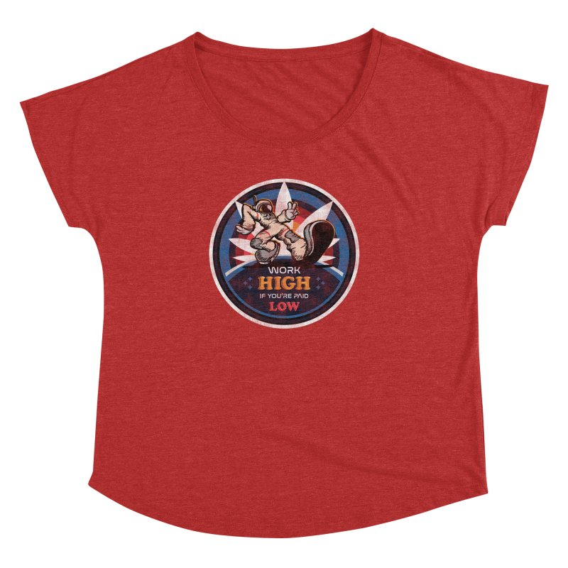 Keep On Grindin' Women's Dolman Scoop Neck by Gamma Bomb - Explosively Mutating Your Look