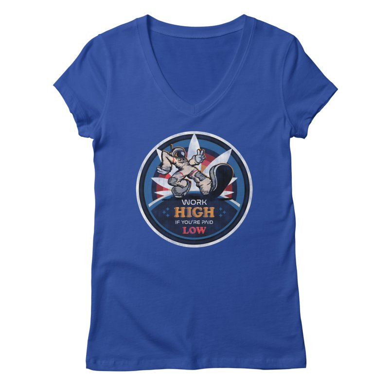 Keep On Grindin' Women's Regular V-Neck by Gamma Bomb - Explosively Mutating Your Look