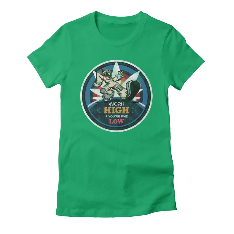 Keep On Grindin' Women's Fitted T-Shirt by Gamma Bomb - A Celebration of Imagination