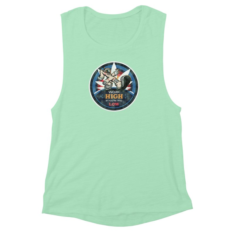Keep On Grindin' Women's Muscle Tank by Gamma Bomb - Explosively Mutating Your Look