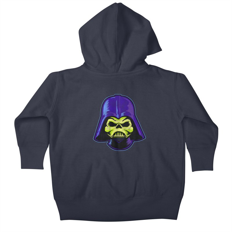Skelevader Kids Baby Zip-Up Hoody by Gamma Bomb - Explosively Mutating Your Look