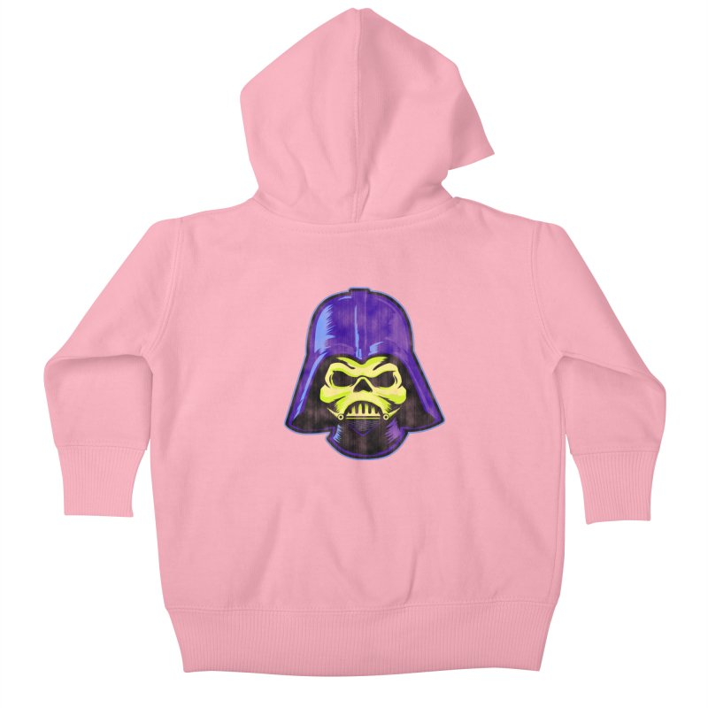 Skelevader Kids Baby Zip-Up Hoody by Gamma Bomb - A Celebration of Imagination