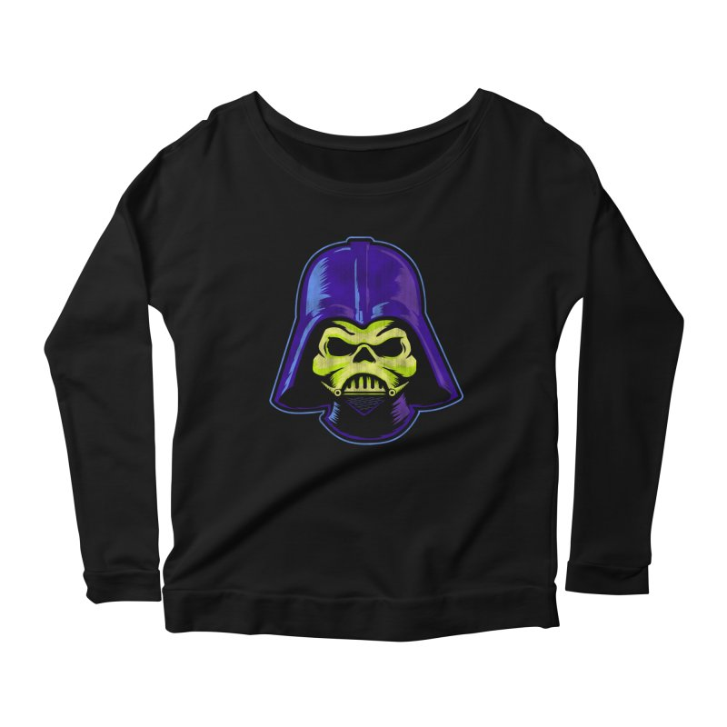 Skelevader Women's Scoop Neck Longsleeve T-Shirt by Gamma Bomb - Explosively Mutating Your Look