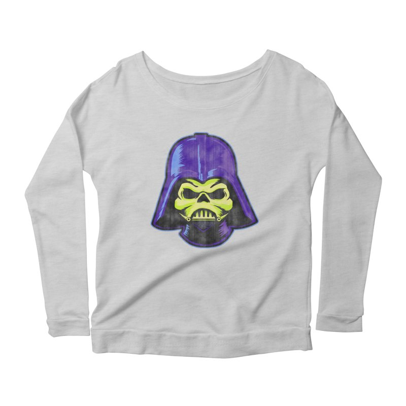 Skelevader Women's Scoop Neck Longsleeve T-Shirt by Gamma Bomb - A Celebration of Imagination