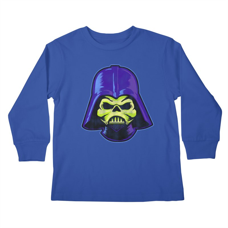 Skelevader Kids Longsleeve T-Shirt by Gamma Bomb - Explosively Mutating Your Look