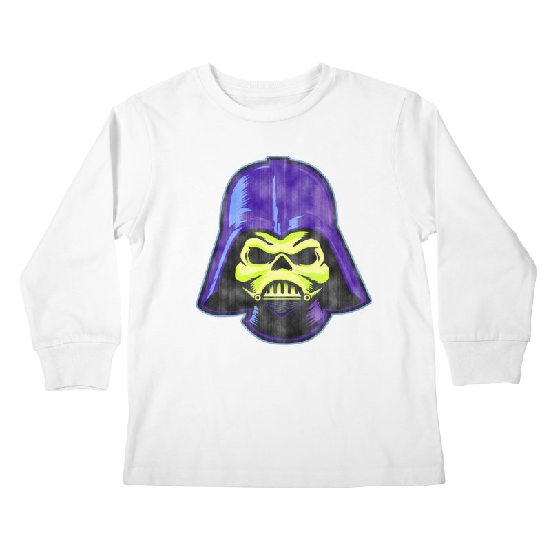 Skelevader Kids Longsleeve T-Shirt by Gamma Bomb - A Celebration of Imagination